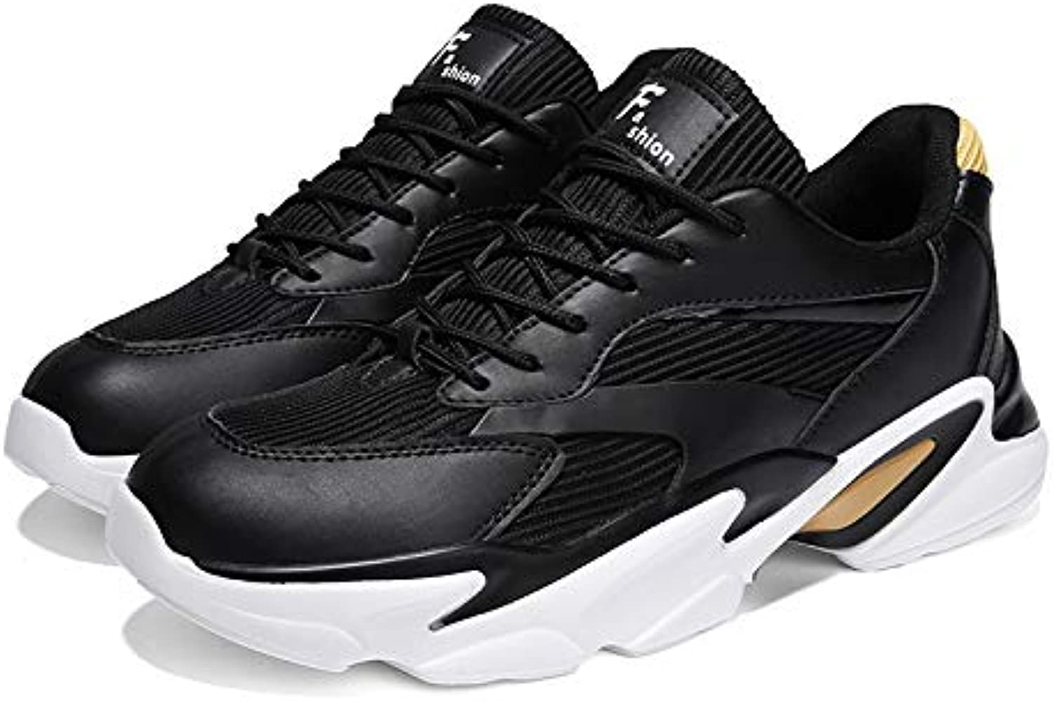 HAWEEL Casual Sports shoes Fashion Round Head Casual Outdoor Sport Running shoes for Men (color Black Size 39)