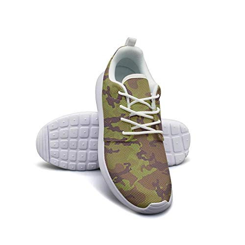 VXCVF Military Texture Camouflage Men's White Training Shoes for Mens Skid-Proof Cool