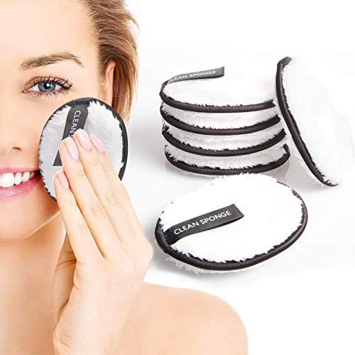 JIPRENS Waschbare Abschminkpads Mikrofaser Abschminktücher Wiederverwendbare Abschminktücher 6 Stück Make up Entferner Pads Kosmetikpads zur Entfernung,Umweltfreundlich & nachhaltig