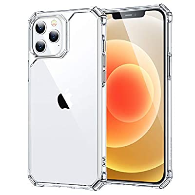"ESR Air Armor Compatible with iPhone 12 Case/Compatible with iPhone 12 Pro Case (2020) [Military-Grade Drop Protection] [Shock-Absorbing Corners] Hard PC + Flexible TPU Frame, 6.1"" – Clear"