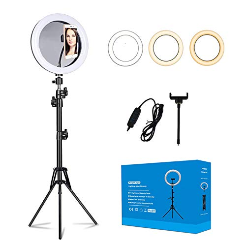 """13"""" Ring Light with Stand and Phone Holder, Selfie Ring Light, LED Ring Light for Photography, Makeup and YouTube Video.Light Ring with 3 Light Modes .(13 inch)"""
