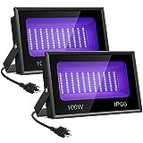 Onforu 2 Pack 100W LED Black Light, Blacklight...