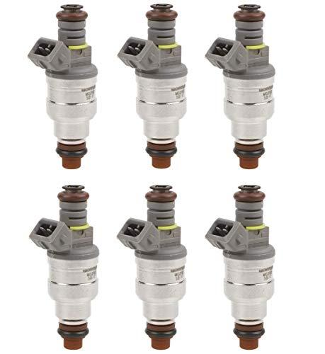 MOSTPLUS Fuel Injectors Compatible for Ford 6 Cyl 3.8L 4.9L F1ZE-B4C F1ZZ9F593B (Set of 6)
