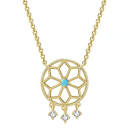 Collares Collares con forma de Sensor de sueño para mujeres Color indio Color dorado claro Regalo de moda para niñas Joyería de moda