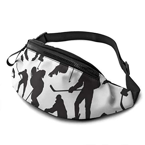 Bolsa de cintura con agujero para auriculares, para hombre y mujer, con correa ajustable para exteriores