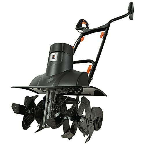DELTAFOX Elektro Bodenhacke Gartenkultivator Gartenhacke Motorhacke elektrisch - 1500 Watt - 3 Arbeitsbreiten 19/32,5/43,5 cm - Arbeitstiefe 20 cm - Klappbarer Holm