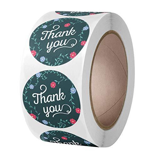 500 pegatinas de agradecimiento con diseño de flor de vid para regalo de caja de sello para álbumes de recortes, decoración de sobre, pegatinas de papelería