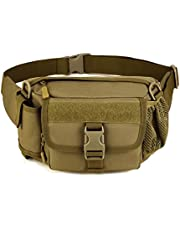 T TOOYFUL Tactical Taille Utility Fanny Pack riemtas met netwaterfleshouder