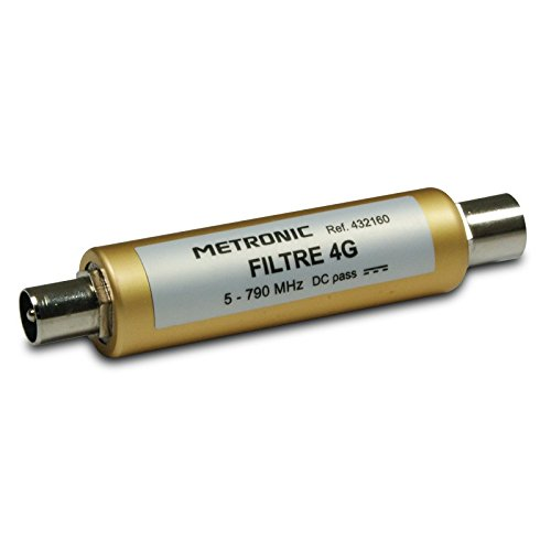 Metronic 432160 Filtre 4G / LTE pour antenne TV hertzienne UHF - Connexion fiche TV 9,52mm Mâle / Femelle