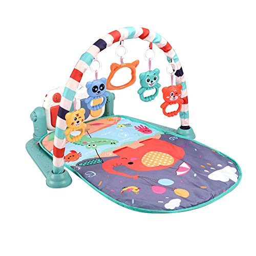 Winthome Baby Play Mat Round,Non-Slip Floor Gym Washable Crawling Mat 59 Train