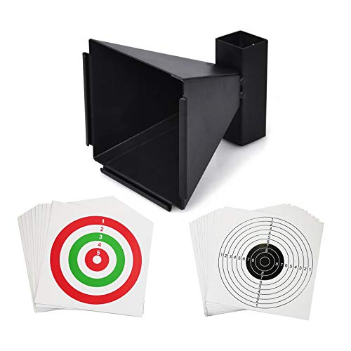 Atflbox 6.7 Inch BB Gun Trap with 20pcs Paper Target Bullet Catcher Shooting Target for Airsoft, Pellet, Rifle