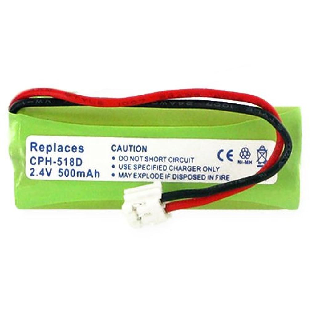 Vtech LS6125-2 Cordless Phone Battery Ni-MH, 2.4 Volt, 500 mAh - Ultra Hi-Capacity - Replacement for vTech 89-1337-00-00, BT18443, BT28443 Rechargeable Battery
