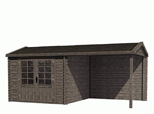 Fonteyn Gartenhaus/Blockhütte Irma Satteldach 580 x 290 cm Hochdruck imprägniert