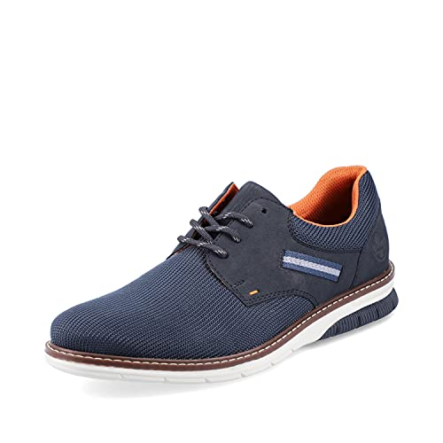 Rieker Hombre Zapatos con Cordones 14412, de Caballero Zapatos Deportivos con Cordones,Zapato bajo,Zapatilla,Azul (Blau / 15),42 EU / 8 UK