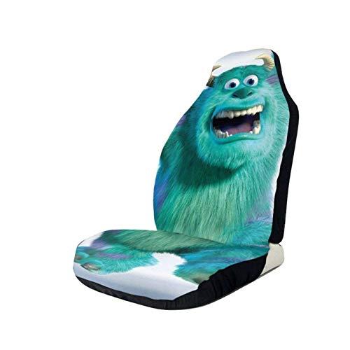 Lovely baby-Z Fundas de asiento de coche Mon-ste-rs I-nc Protector de asiento delantero impreso 3D asientos universales fundas antideslizantes, se adapta a la mayoría de coches, sedan, SUV Truck