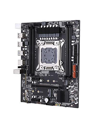 GIAO Placa Base de Escritorio X99 Compatible con Fit for LGA 2011-3 NVME SATA M.2 Ranura Compatible con Canales Dobles DDR4 ECC SATA3.0 USB3.0