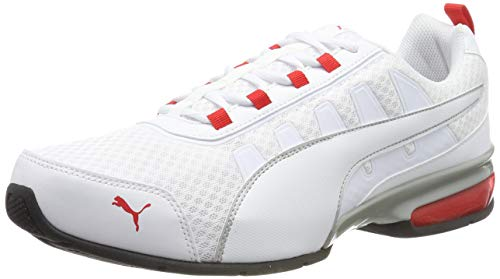 PUMA Unisex-Erwachsene Leader Vt Mesh Sneaker, Weiß (Puma White-High Risk Red 8), 42.5 EU (8.5 UK)