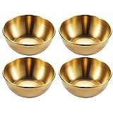 AZr Tazones De Cereales, Cuencos De Snack para Tapas, Postre, Nueces, Oliva, Plato De Salsa De Soja, Cuencos Dip, Ingredientes De Sushi, Bowl Bowl (Color : Gold)