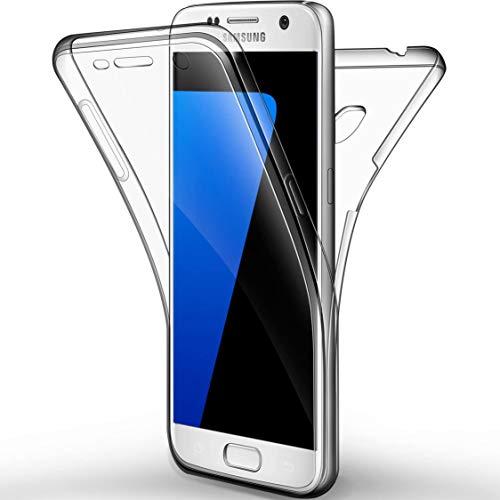 N NEWTOP Cover per Samsung Galaxy S7 Edge, Custodia Crystal Case in TPU Silicone Gel PC Protezione 360° Fronte Retro Completa (per S7 Edge)