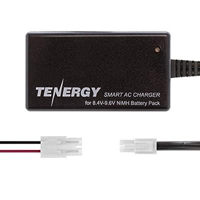 Tenergy Smart Charger for 8.4V-9.6V NiMH Battery Packs w/ Mini Tamiya Connector + Standard Tamiya Adapter