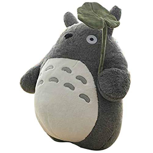 Mein Nachbar Totoro Plüsch Puppe Plüschtier Spielzeug Dekokissen Dekorative Urlaub Geburtstag Kind Freundin Geschenk Grau Totoro Flauschige Sitzsäcke,A,55CM