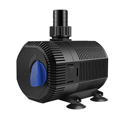 YAOBLUESEA Eco Teichpumpe Filterpumpe Bachlaufpumpe 2300L/H 35W Energiespar Wasserpumpe Koiteich Bachlaufpumpe