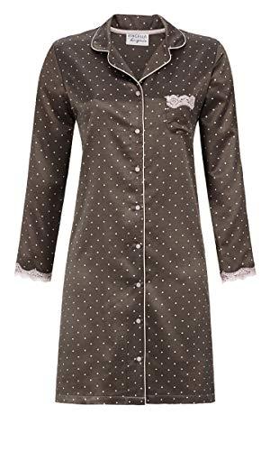 Ringella Lingerie Damen Nachthemd durchgeknöpft Charcoal Grey 46 9562027, Charcoal Grey, 46