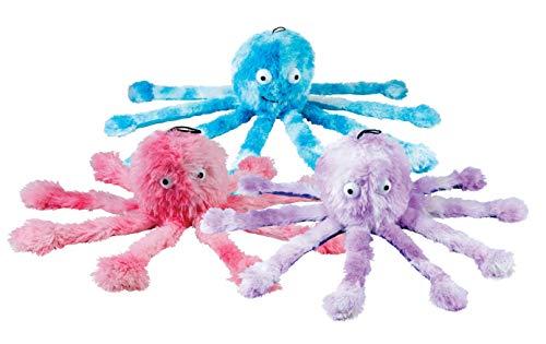 Gor Pets Kauspielzeug für Hunde, weich, kuschelig mit quietschenden Füßen – Mommy Octopus