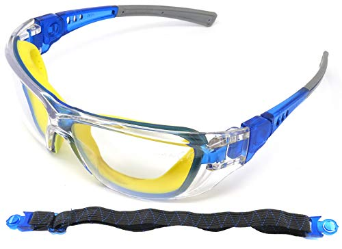 Edz Kidz Childrens Safety Glasses. Kids protective spectacles. Including a strap to turn them into Goggles. Ideal for school and NERF (1)