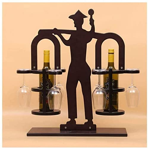 IVQAPP Wine Rack Wall Mounted Solid Wood Wine Rack Wine Glasses Hanging Upside Down Cup Holder Creative Home Decoration Bar Small Wine Rack