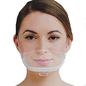 Immagine di Urhome – 10 Schermi Facciali In Plastica Bianca Antivirus, Visiera Protettiva Virus E Batteri, Mascherine Lavabili E Riutilizzabili Per Protezione Naso Bocca Anche Da Liquidi E Saliva