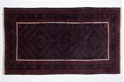 Beloutsch 204x132 cm Handgeknüpfter Teppich aus Afghanistan Orient Flurteppich