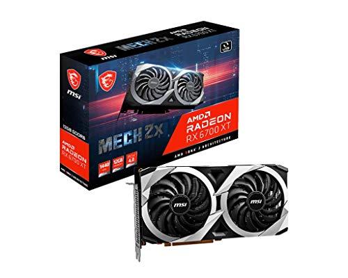 Tarjeta gráfica gaming MSI Radeon RX 6700 XT MECH 2X 12G, 12GB GDDR6, 192 bit, AMD RDNA 2, TORX FAN 3.0, PCI Express Gen 4, DisplayPort v1.4a, HDMI 2.1, Zero Frozr, Raytracing, admite Afterburner