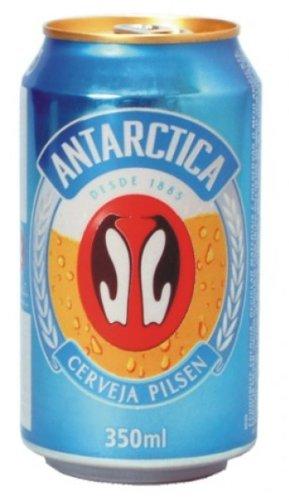 Leichteres brasilianisches Bier, Antarctica,4,9% vol., Dose 350ml.