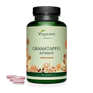 immagine di MELOGRANO Vegavero®   600 mg per capsula   con 40% Acido Ellagico e 40% Punicalagina   Fonte naturale di ANTIOSSIDANTI   120 capsule   Vegan
