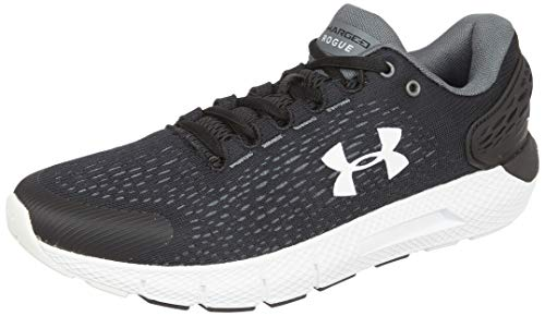 Under Armour UA Charged Rogue 2, Zapatillas para Correr, Calzado cómodo para Hombre, Negro (Black/Halo Gray/White (001) 001), 42.5 EU