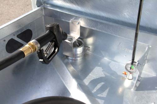 Quadro-CV Brandstofreservoir, 330 liter, mobiele tankstation Rietberg benzine, pomp elektrische pomp 230 V, 330 Liter
