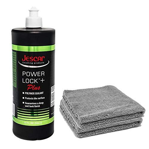 Jescar Power Lock Plus Polymer Paint Sealant Quart 32oz & Two DD Microfiber Towels