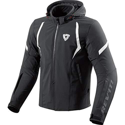 REV'IT! Motorradjacke mit Protektoren Motorrad Jacke Burn Textiljacke schwarz/weiß 3XL, Herren, Chopper/Cruiser, Ganzjährig