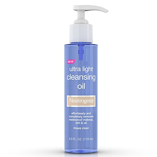 Price comparison product image Neutrogena Ultra Light Facial Cleansing Oil & Makeup Remover,  Non-Comedogenic Face Oil Cleanser to Remove Dirt,  Oil,  Makeup & Waterproof Mascara,  4 fl. oz