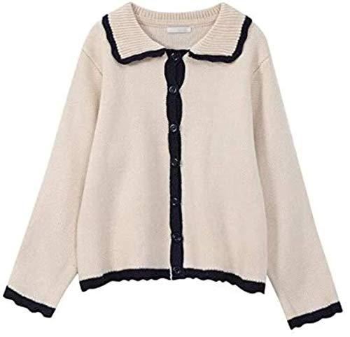Cardigan Suéter Mujer Suelto Elegante Casual Sólido Suave Suéter De Punto Tops Outwear