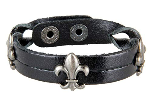 Thumby Unisex Polsband Armbanden Retro Mannen Surf Armband Eenvoudige Casual Punk Stijl Armband Cross Leer Gevlochten Touw Lederen Armband Zwart