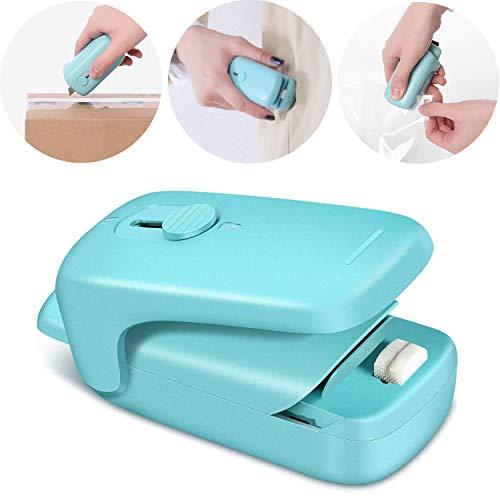 Mini Bag Sealer,2 in 1 Heat Sealer with Cutter,Bag Heat Sealer Handheld Portable Vacuum Sealers for...