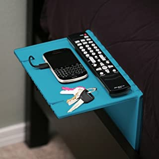 Urban Shelf -Blue- Bedside Table & Organizer, Folding Night Stand, Compact and Convenient Bed Shelf, Works Great in Dorm Rooms and on Bunk Beds! Easy to Use Attachable Bed Caddy - Made in USA
