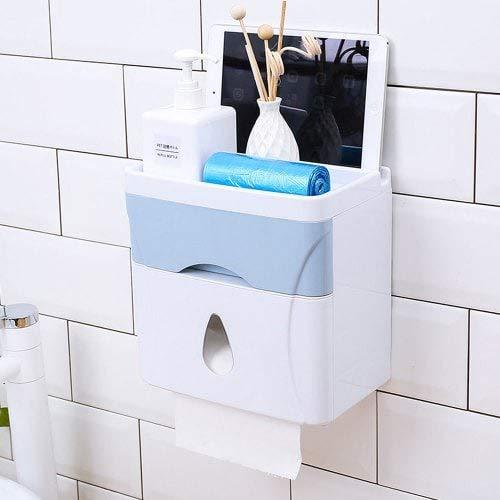 WZhen Salle De Bains Punch-Free Creative Multi-Purpose Storage Rack - Baby Blue