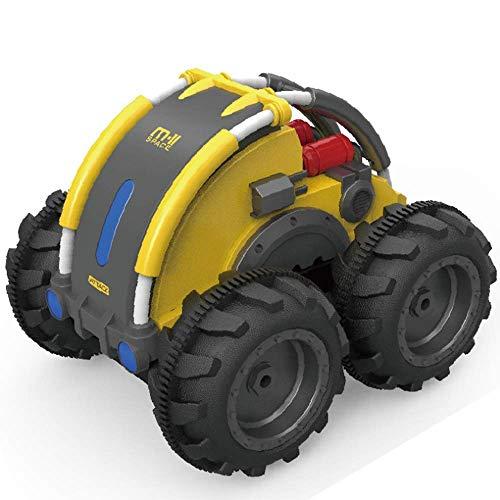 Télécommande Rotation Et Roulement Stunt Car Rc Amphibious Vehicle Climbing Car Stunt Off-Road Vehicle Car Voiture électrique Jouet Voiture Quatre Roues motrices Dump Cadeaux Jouet (Couleur: Jaune) J