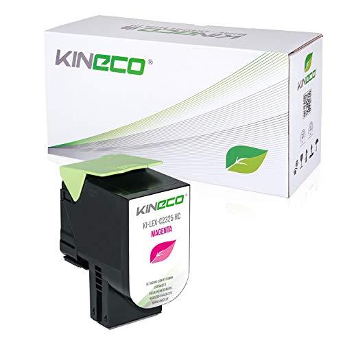 Kineco Toner mit CHIP kompatibel für für Lexmark C2325dw C2425dw C2535dw MC2325adw MC2425adw MC2535adwe MC2640adwe C2320M0 Magenta