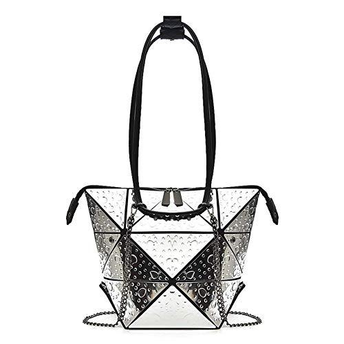 Mode casual dames handtas, rhombic vervormde schoudertas multifunctionele multi-variabele laser rugzak, geschikt voor dating winkelfeesten