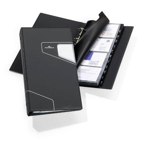 Durable 246158 Visitenkartenringbuch Visifix Pro (mit 25 Hüllen für 200 Visitenkarten) anthrazit