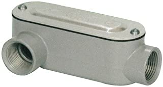 Morris 14092 Rigid Conduit Body, Aluminum, Type LR, Threaded with Cover and Gasket, 1